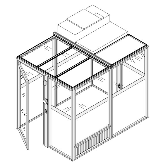 Cleanroom Enclosure Technical Drawing