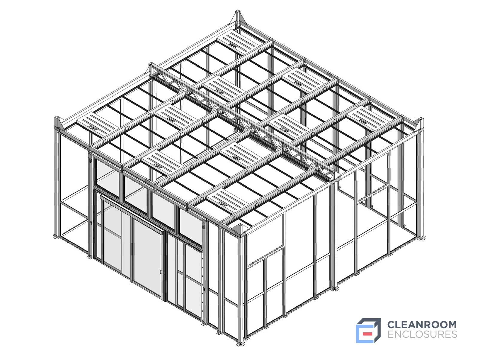 Diagram of a modular cleanroom