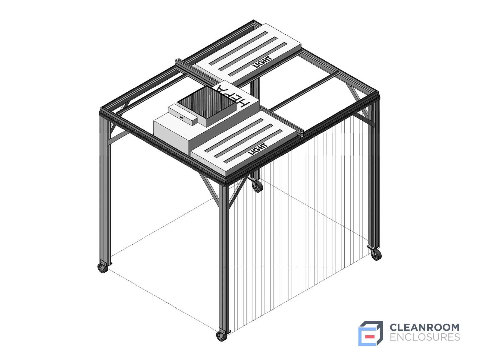 Square Modular Cleanroom Diagram